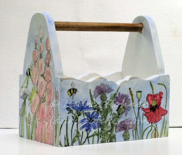 watercolor hand painted tote